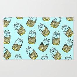 Cute Lemonade Mason Jar Summer Drink Teal Pattern Rug