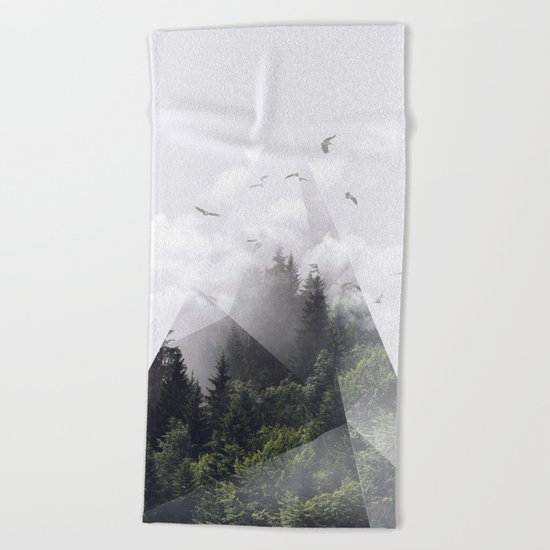 Forest triangle Beach Towel