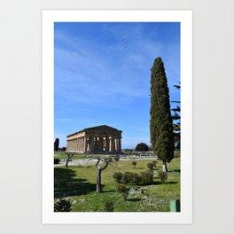 templi di paestum Art Print