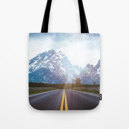 Mountain Road - Grand Tetons Nature Landscape Photography Tote Bag