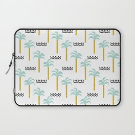 Palm Tree tropical island vacation wave water socal hawaii beach life salt life chilled out vibe Laptop Sleeve