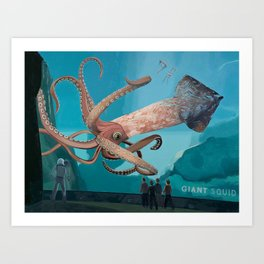 The Squid Art Print