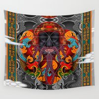 sacred geometry Wall Tapestries featuring Sacred Geometry by Robin Curtiss
