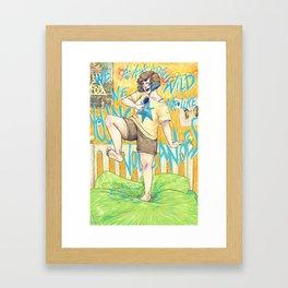 We Are Wild Framed Art Print