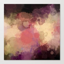 Modern Contemporary Ultra Violet Glow Abstract Canvas Print