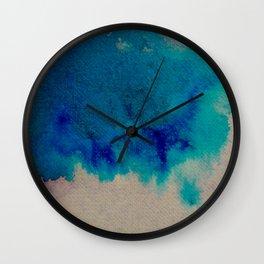 WaterColor Multi Blue Print Wall Clock