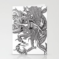 satan Stationery Cards featuring SaTaN by Kurz Daniel