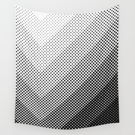 Concentric Squares with dots... a lot of dots. Black Dots, everywhere. It seems a light source. Wall Tapestry