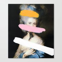 Canvas Prints featuring Brutalized Gainsborough 2 by Chad Wys