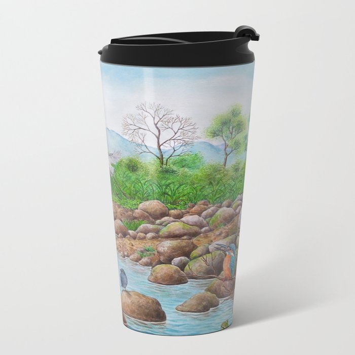 A Day of Forest(7). (the river ecosystem) Metal Travel Mug