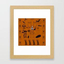 Halloween With Chucky Framed Art Print