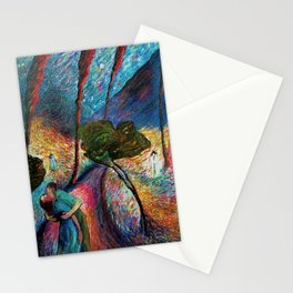 'The Love Vortex - Star-crossed Lovers' Variation 2 mountain landscape by Marianne Von Werefkin Stationery Cards