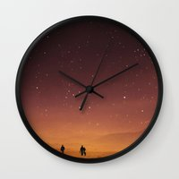 planet Wall Clocks featuring Planet Walk by Stoian Hitrov - Sto