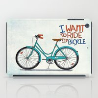 bicycle iPad Cases featuring Bicycle by Prince Arora