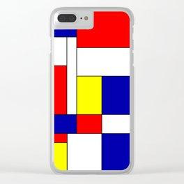 Mondrian #37 Clear iPhone Case
