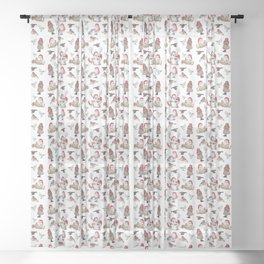 Gnome pattern - Christmas Sheer Curtain