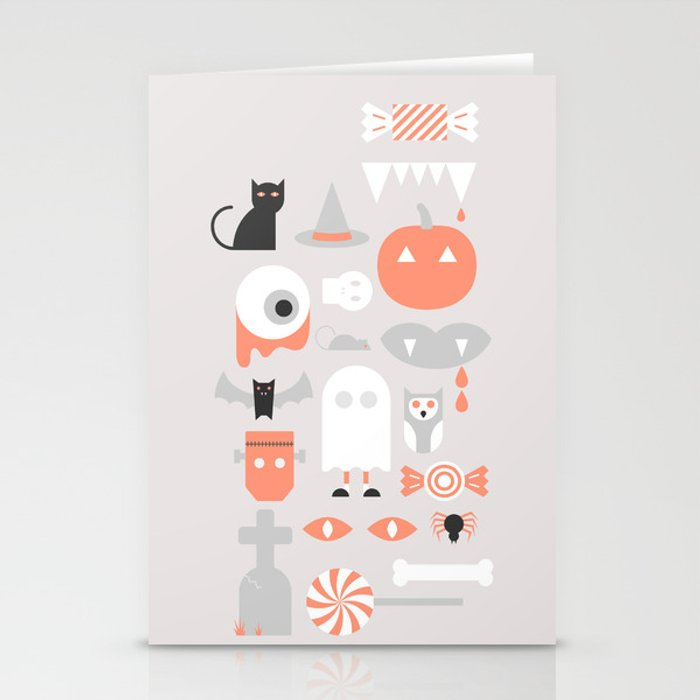 24 Halloween Stationery Cards