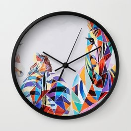 ZEBRA COLOR Wall Clock