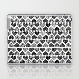 Wild Hearts in Black and White Laptop & iPad Skin