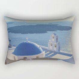 Santorini Island, Greece Rectangular Pillow