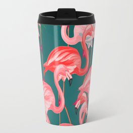 flamingo tropical Travel Mug