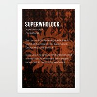 superwholock Art Prints featuring Superwholock by MacGuffin Designs
