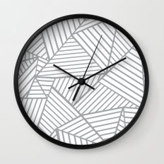 Abstraction Lines Zoom Grey Wall Clock