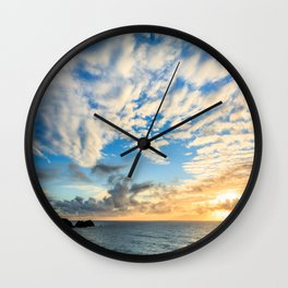 Cape Meares Sunset Wall Clock