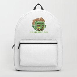 Halloween Festival Hallows Eve Gift Have You Seen My Brain Frankie Green Monster Backpack