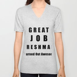 Great Job Freshman Funny Unisex V-Neck