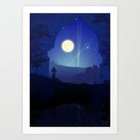 iron giant Art Prints featuring Iron Giant by Ape Meets Girl
