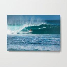 Surfing Hawaii Metal Print