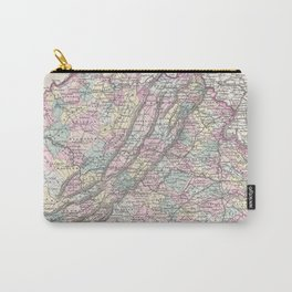 Vintage Map of Virginia (1855) Carry-All Pouch