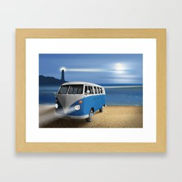 Blue ... beach ... bulli Framed Art Print