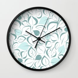 Valentia leaves Wall Clock