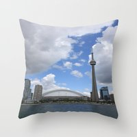 toronto Throw Pillows featuring Toronto by Rose&BumbleBee