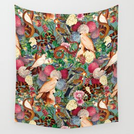 Floral and Animals pattern Wall Tapestry