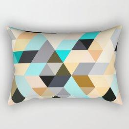 Flux Blue Rectangular Pillow