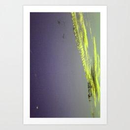 yellow clouds Art Print