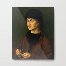 Albrecht Dürer the Elder with a Rosary by Albrecht Dürer Metal Print