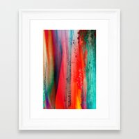 ice Framed Art Prints featuring Ice Curtain by Klara Acel