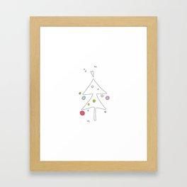 Cute Graphic Christmas Tree Framed Art Print