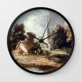 Thomas Gainsborough Landscape with Cottage and Church Wall Clock
