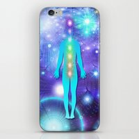 chakra iPhone & iPod Skins featuring Chakra Universe by NatalieCatLee