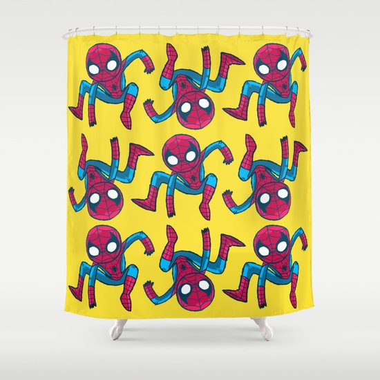 Does whatever a spider can! Shower Curtain