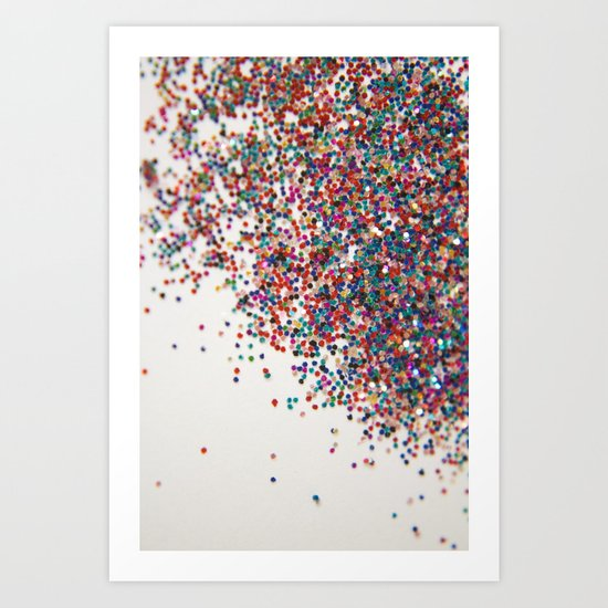 Fun II (NOT REAL GLITTER) Art Print