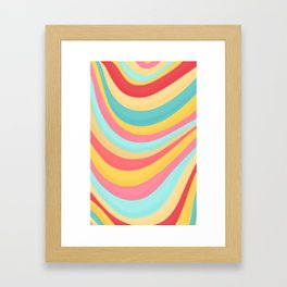 Candy Curves Framed Art Print