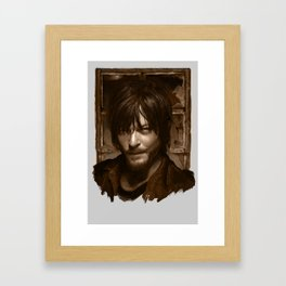 "Daryl Dixon (Norman Reedus) from ""The Walking Dead"" Framed Art Print"