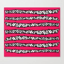 aztec stripes pink Canvas Print