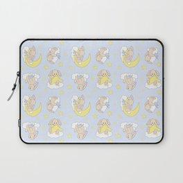 Bunny Moon Star Clouds Nursery Neutral Laptop Sleeve